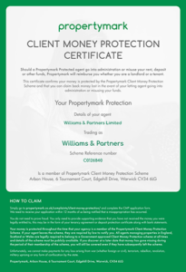 Client Money Protection - Security Certificate (Email)